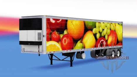 Скин Fresh Fruits на рефрижераторный полуприцеп для American Truck Simulator