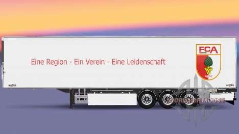 Полуприцеп Chereau FC Augsburg для Euro Truck Simulator 2