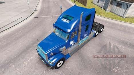 Скин ABCO на тягач Freightliner Coronado для American Truck Simulator