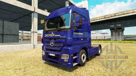 Скин Dachser Karlsruhe v2.1 на Mercedes-Benz для Euro Truck Simulator 2