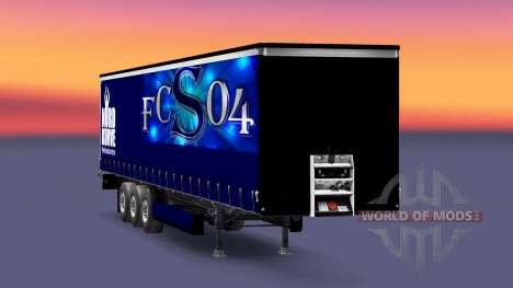 Скин FC Schalke 04 на полуприцеп для Euro Truck Simulator 2
