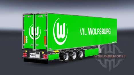 Полуприцеп Chereau VfL Wolfsburg для Euro Truck Simulator 2