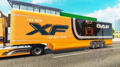 Полуприцеп-рефрижератор DAF XF для Euro Truck Simulator 2