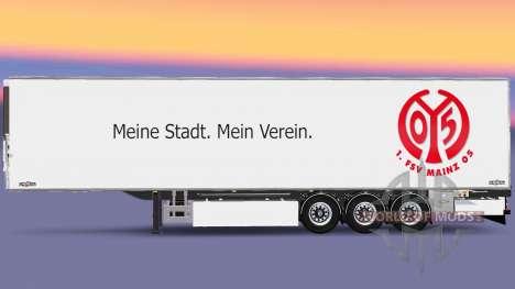 Полуприцеп Chereau 1. FSV Mainz 05 для Euro Truck Simulator 2