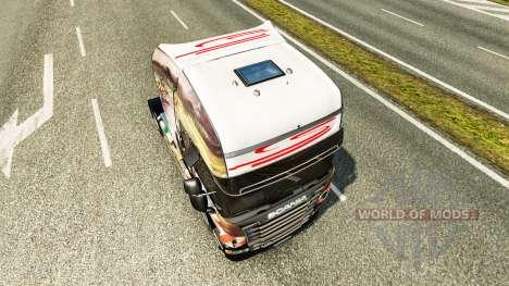 Скин Airton Senna на тягач Scania для Euro Truck Simulator 2