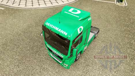 Скин Deichmann на тягач MAN для Euro Truck Simulator 2