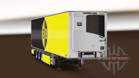 Полуприцеп Chereau Borussia Dortmund для Euro Truck Simulator 2