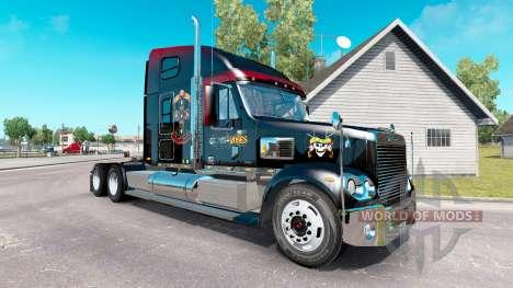 Скин Guns N Roses на тягач Freightliner Coronado для American Truck Simulator