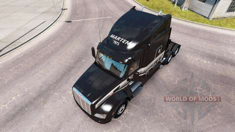 Скин Marten Transport LTD на тягач Peterbilt для American Truck Simulator