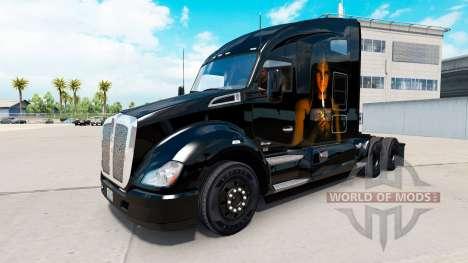 Скин Light my Fire на тягач Kenworth для American Truck Simulator