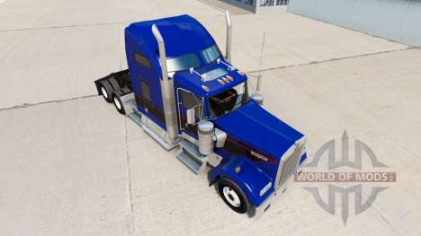 Скин Black & Blue Vintage на тягач Kenworth W900 для American Truck Simulator