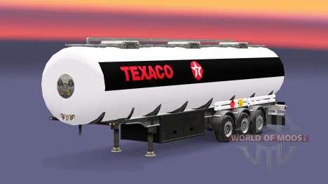 Топливный полуприцеп Texaco для Euro Truck Simulator 2