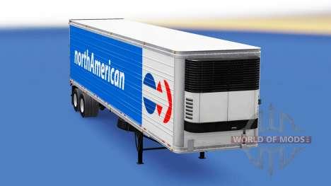 Рефрижераторный полуприцеп North American для American Truck Simulator