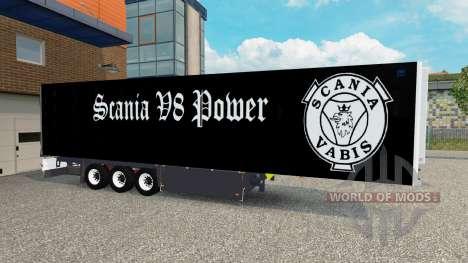 Полуприцеп Schmitz Cargobull Scania V8 для Euro Truck Simulator 2