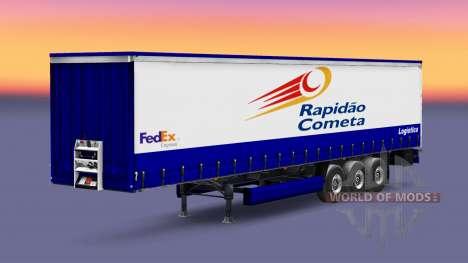 Скин Rapidao Cometa на полуприцеп для Euro Truck Simulator 2