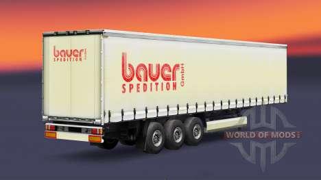 Скин Bauer Spedition GmbH на полуприцеп для Euro Truck Simulator 2