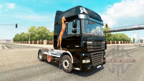 Скин Caballos на тягач DAF для Euro Truck Simulator 2