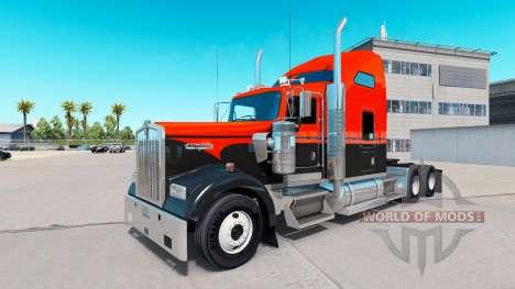 Скин Flash Custom на тягач Kenworth W900 для American Truck Simulator