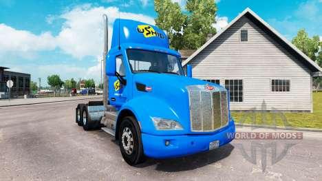 Скин uShip на тягач Peterbilt для American Truck Simulator