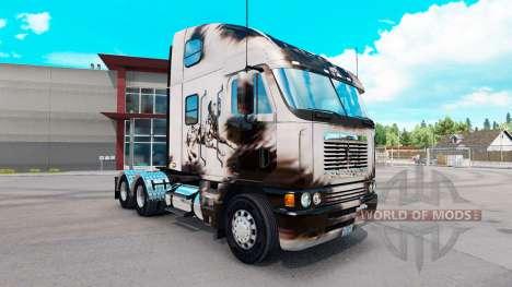 Скин Reworked Dalmatin на Freightliner Argosy для American Truck Simulator
