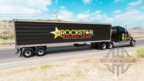 Скин Rockstar Energy на полуприцеп-рефрижератор для American Truck Simulator