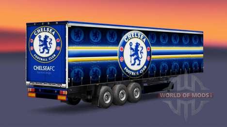 Скин FC Chelsea v1.3 на полуприцеп для Euro Truck Simulator 2