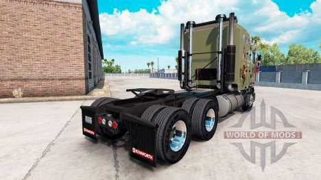 Скин Military Girls на тягач Kenworth K100 для American Truck Simulator