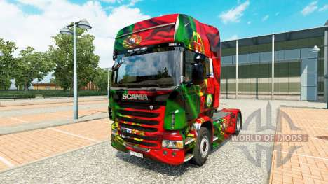 Скин Portugal Copa 2014 на тягач Scania для Euro Truck Simulator 2