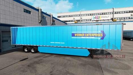 Сборник скинов США и Канады на полуприцеп для American Truck Simulator
