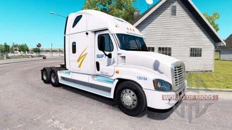 Скин Swift на тягач Freightliner Cascadia для American Truck Simulator