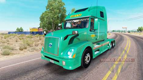 Скин Abilene Express на тягач Volvo VNL 670 для American Truck Simulator