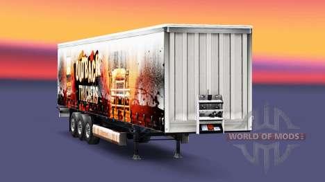 Скин Outback Truckers на полуприцеп для Euro Truck Simulator 2