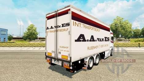 Скин A.A.van ES на тягач Scania Tandem для Euro Truck Simulator 2