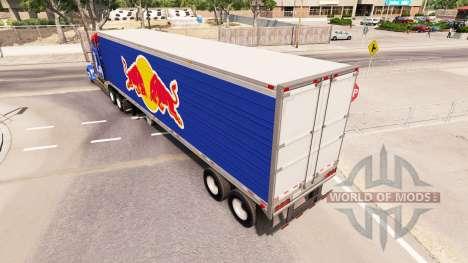 Скин Red Bull на полуприцеп-рефрижератор для American Truck Simulator