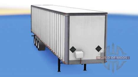 Цельнометаллический трёхосный полуприцеп для American Truck Simulator