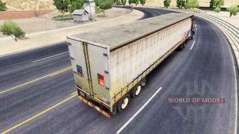Старый шторный полуприцеп для American Truck Simulator
