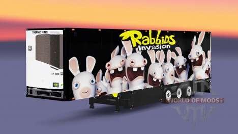Полуприцеп-рефрижератор Schmitz Rabbids для Euro Truck Simulator 2