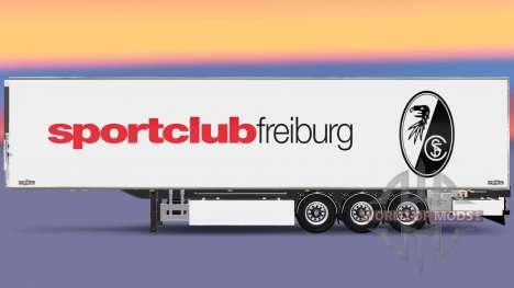 Полуприцеп Chereau SC Freiburg для Euro Truck Simulator 2