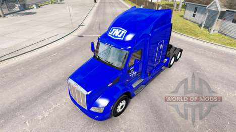 Скин JNJ Express Inc. на тягач Peterbilt для American Truck Simulator