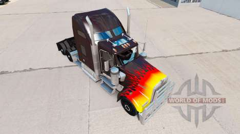 Скин HotRod на тягач Kenworth W900 для American Truck Simulator