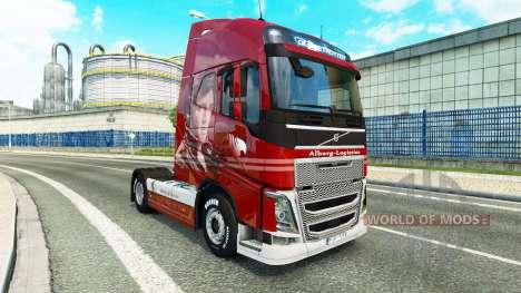 Скин Alborg Logistics на тягач Volvo для Euro Truck Simulator 2