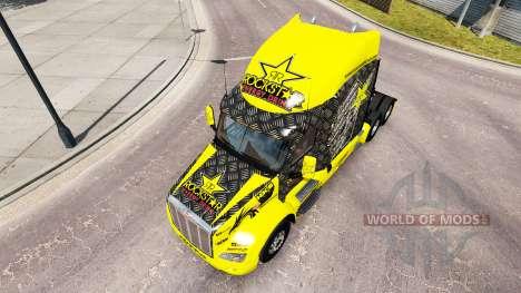 Скин Rockstar Energy на тягач Peterbilt для American Truck Simulator