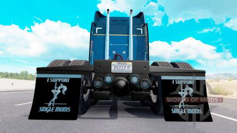 Брызговики I Support Single Moms v1.6 для American Truck Simulator