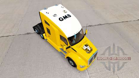 Скин Port Vale yellow на тягач Kenworth для American Truck Simulator