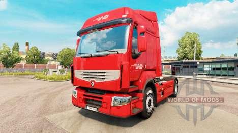 Скин Norbert Dentressangle на тягач Renault для Euro Truck Simulator 2