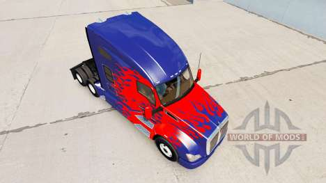 Скин Optimus Prime на тягач Kenworth для American Truck Simulator