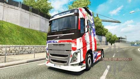 Скин USA на тягач Volvo для Euro Truck Simulator 2