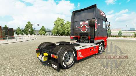 Скин Grey Red на тягач DAF для Euro Truck Simulator 2