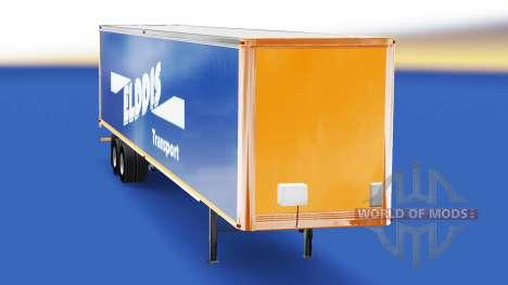 Скин Elddis Transport на полуприцеп для American Truck Simulator