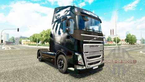 Скин Valentina на тягач Volvo для Euro Truck Simulator 2